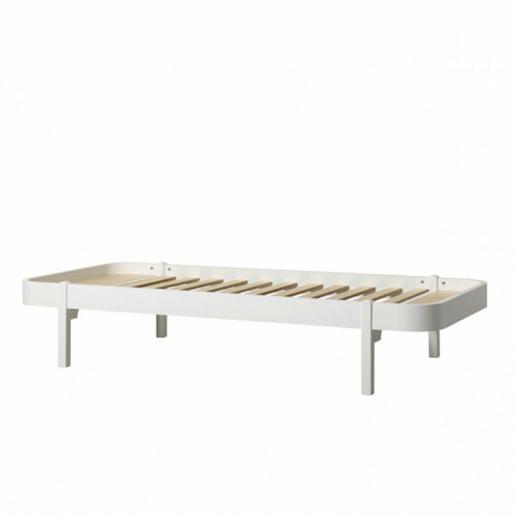 Oliver Furniture Bett Wood Lounger Weiß 90x200cm