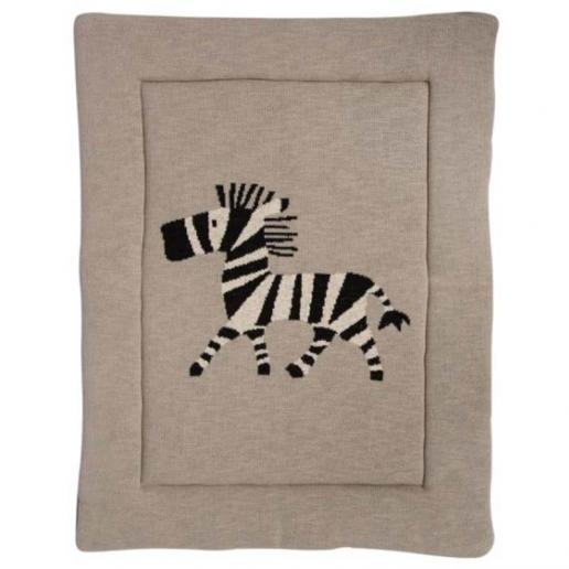 Quax Tipi Krabbel- und Spieldecke Zebra 73 x 93 cm