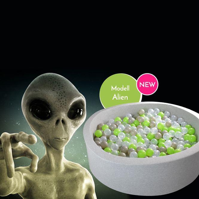 Bällebad Alien Grau
