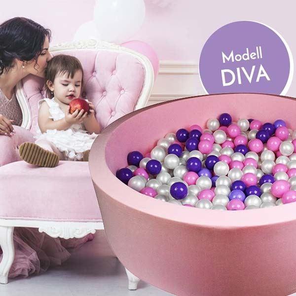 Bällebad Diva Rosa