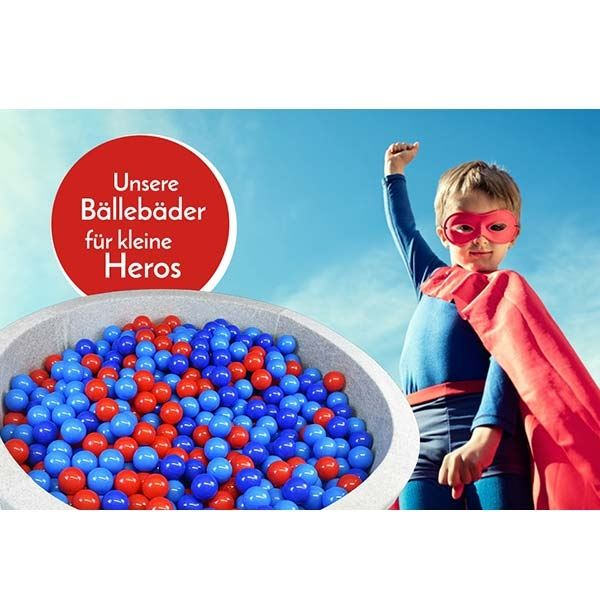 Bällebad Hero Grau