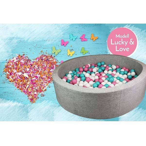 Bällebad Lucky and Love Grau