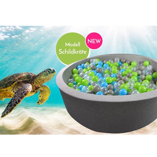 Bällebad Schildkröte Grau