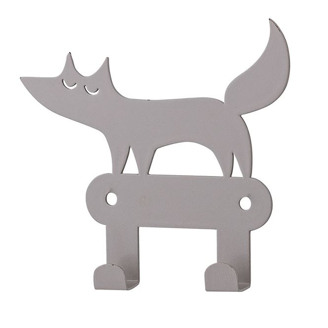 Bloomingville Metallhaken Fuchs Grau