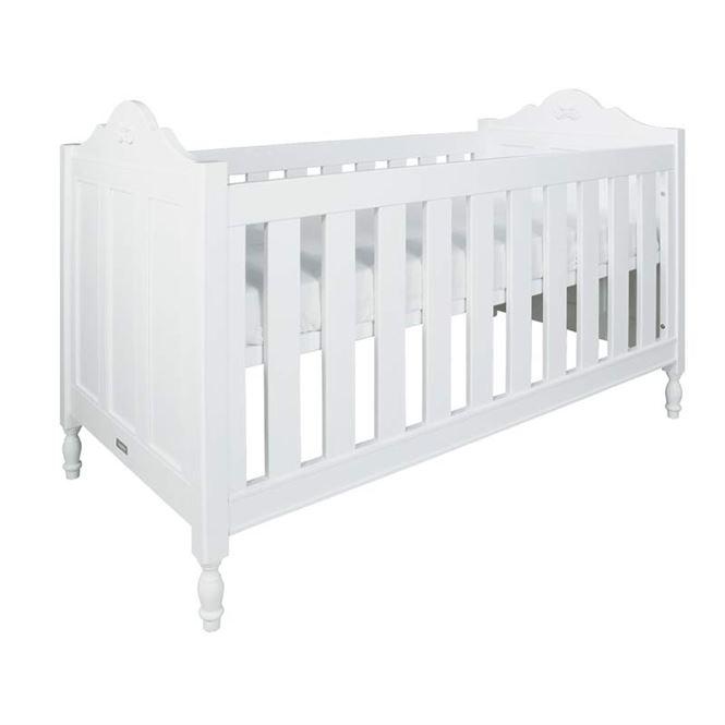 Bopita Babybett Romantic Weiß 70 x 140 cm
