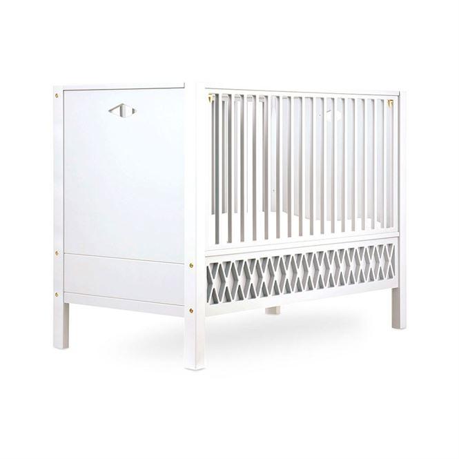 CamCam Babybett Harlequin Weiß 60 x 120 cm