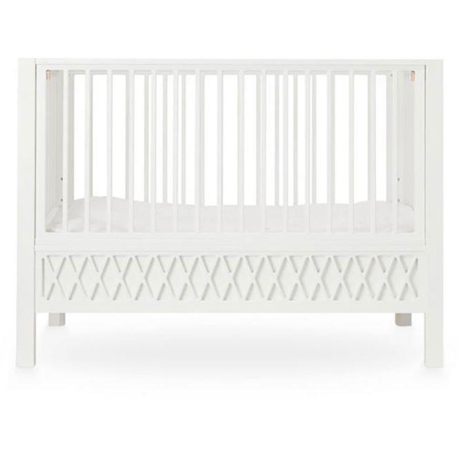 CamCam Babybett Harlequin Weiß