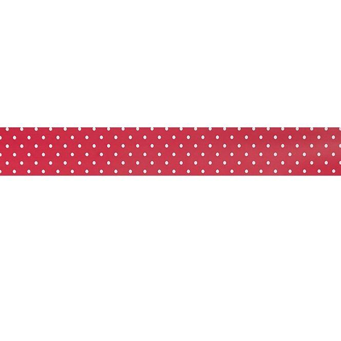 caselio oh la la - gepunktete bordüre rot und weiß - Kinderzimmer Rot Weis Gepunktet