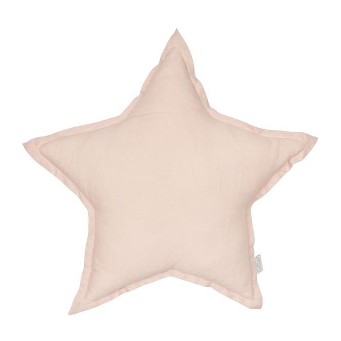 Cotton & Sweets Leinenkissen Stern Powder Pink