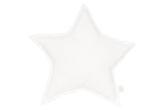 Cotton & Sweets Leinenkissen Stern Weiß
