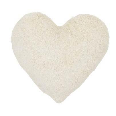 Cotton & Sweets Plüschkissen Herz Boho Creme