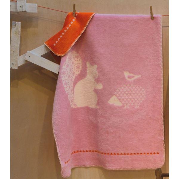 David Fussenegger Baby- und Schlafdecke Panda Eichhörnchen rosa