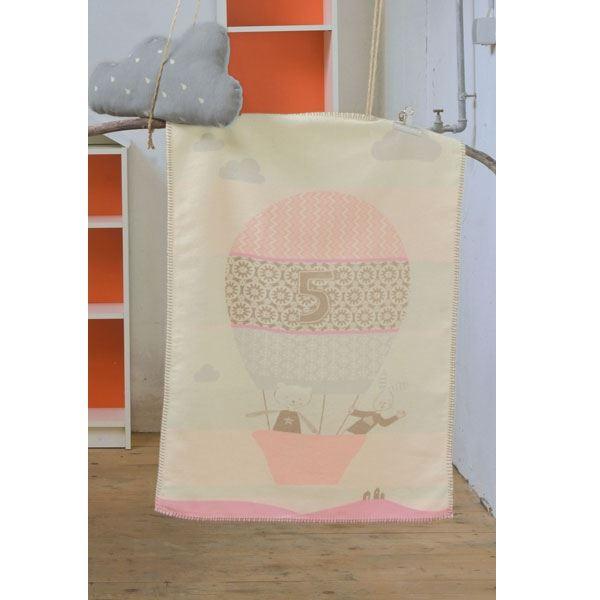 babydecke ballon rosa braun 100 bio baumwolle. Black Bedroom Furniture Sets. Home Design Ideas