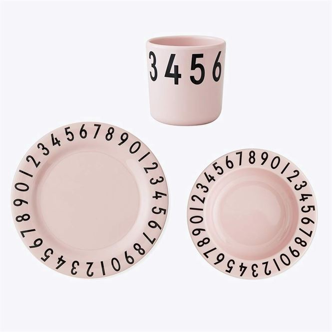 Design Letters Kindergeschirr Set Nummern Soft Pink