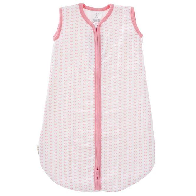 Fresk Musselin Babyschlafsack Blätter Pink