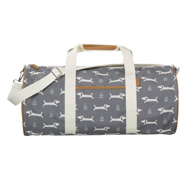 Fresk Weekender Tasche groß Dackel grau