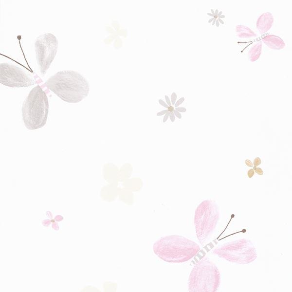 jules et julie tapete papillons wei grau rosa. Black Bedroom Furniture Sets. Home Design Ideas