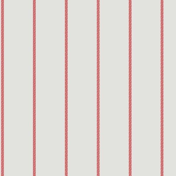 Jules et julie tapete rayure pois wei rot for Rote tapeten wandgestaltung