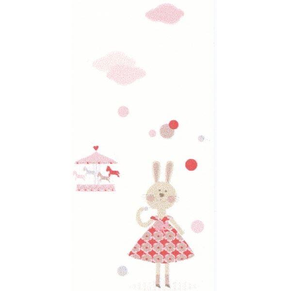 Jules et Julie Wandbild Fête Foraine weiß rot rosa