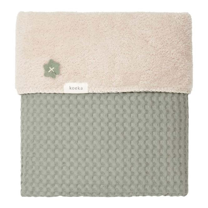 Koeka Babydecke Shadow Green - Soft Sand 100 x 150 cm | Kinderzimmer > Textilien für Kinder > Babytextilien | Koeka