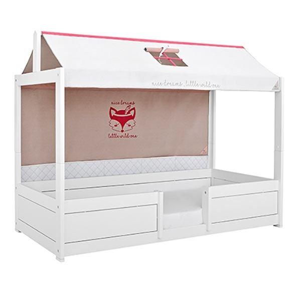 lifetime 4 kinderbetten in 1 wei mit hausdach kinderzimmerhaus. Black Bedroom Furniture Sets. Home Design Ideas