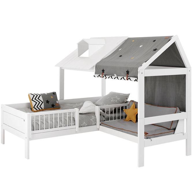 LifeTime Beachhouse Bett mit Sitzplatz Weiß