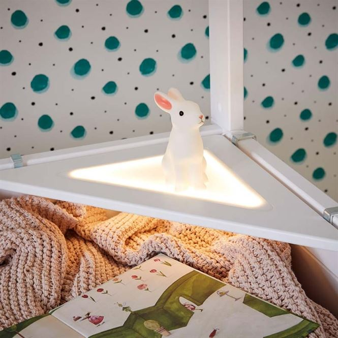 LifeTime Eckablage mit LED Licht Weiß