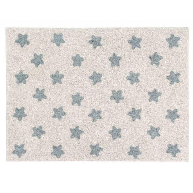 Lorena Canals Teppich Stars Natural-Vintage Blue
