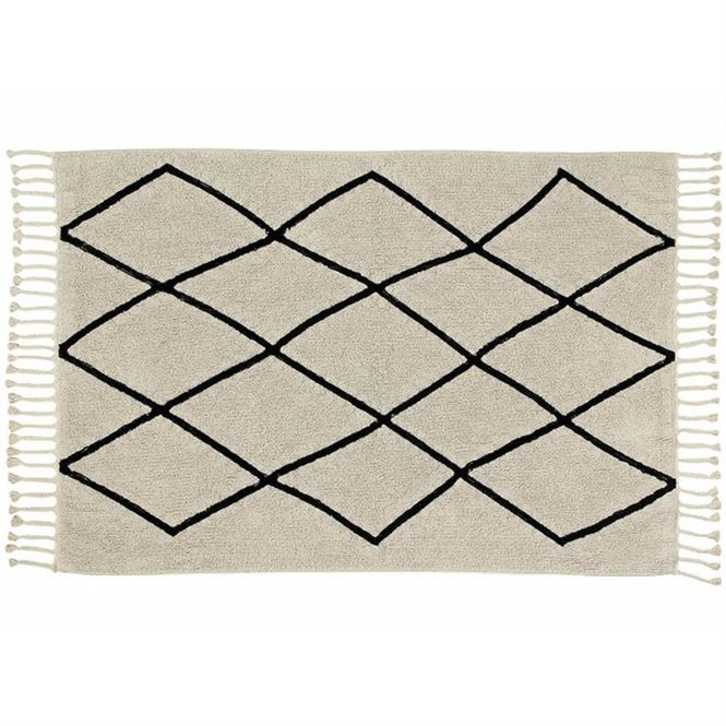 Lorena Canals Waschbarer Teppich Bereber Cream 140 x 200 cm