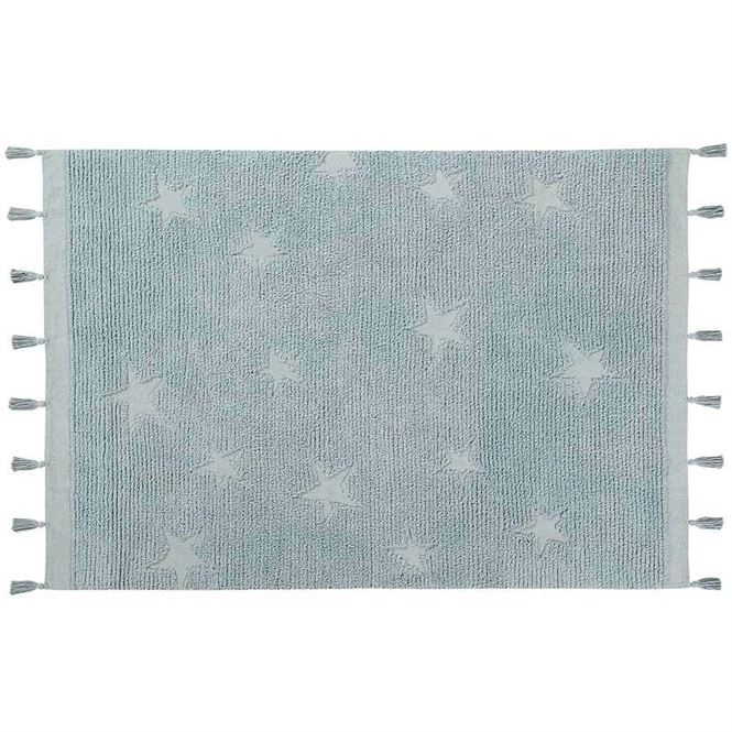 Lorena Canals Waschbarer Teppich Hippy Stars Aqua Blue