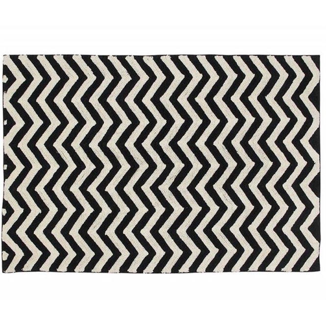Lorena Canals Waschbarer Teppich Zig-Zag 140 x 200 cm