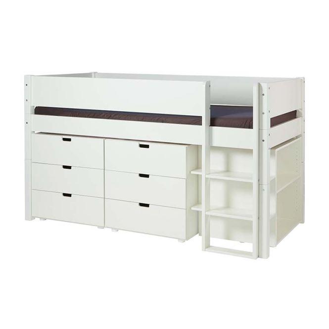 Manis-h Kinderbett Arn Weiß
