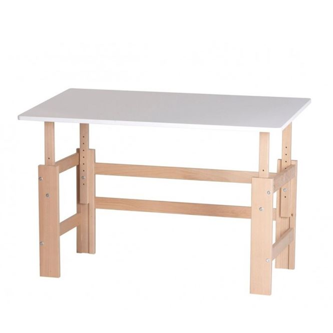 Manis-h Schreibtisch Weiß/Buche