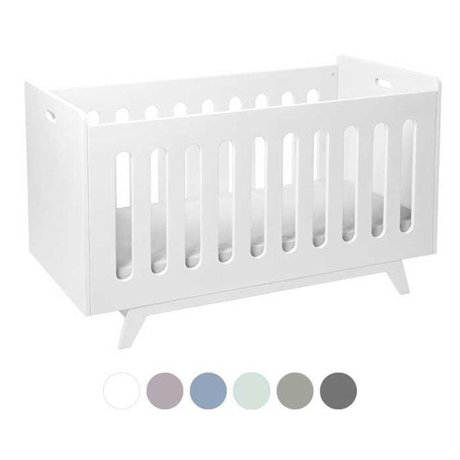 MIMM Baby-und Kinderbett 70 x 140 cm Weiß