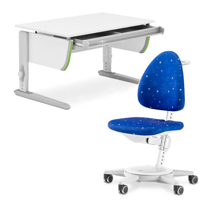 Moll Schreibtisch Joker mit Schublade und Drehstuhl Maximo Galaxy