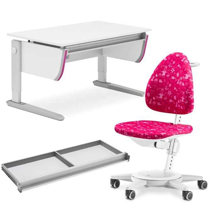 Moll Schreibtisch Joker mit Schublade und Drehstuhl Maximo Lotta