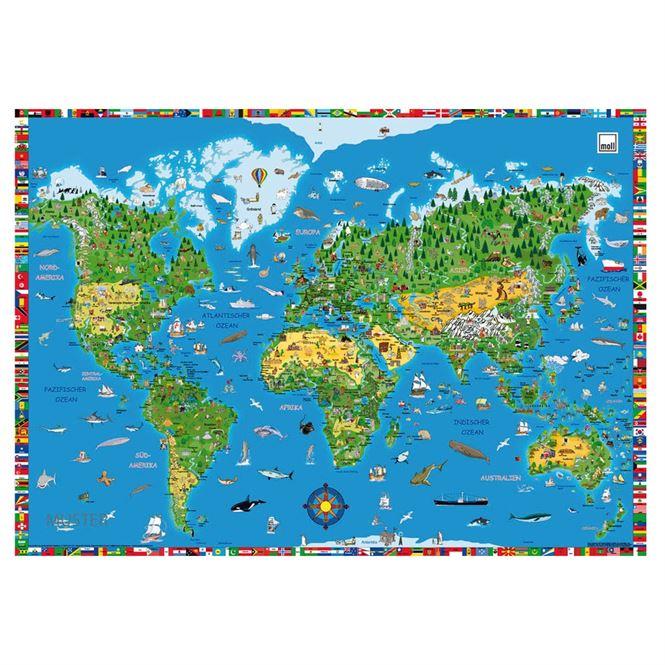 Moll Schreibunterlage Weltkarte | Büro > Bürotische > Bürotische-Zubehör | moll