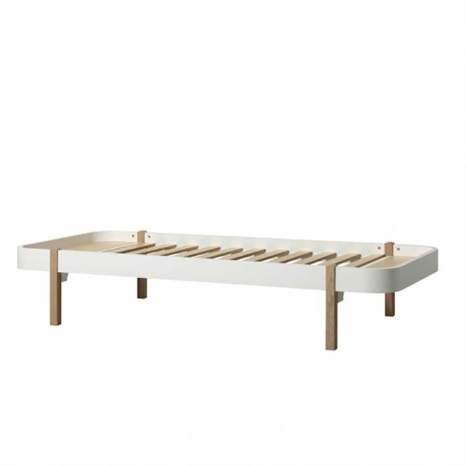 Oliver Furniture Bett Wood Lounger Weiß/Eiche