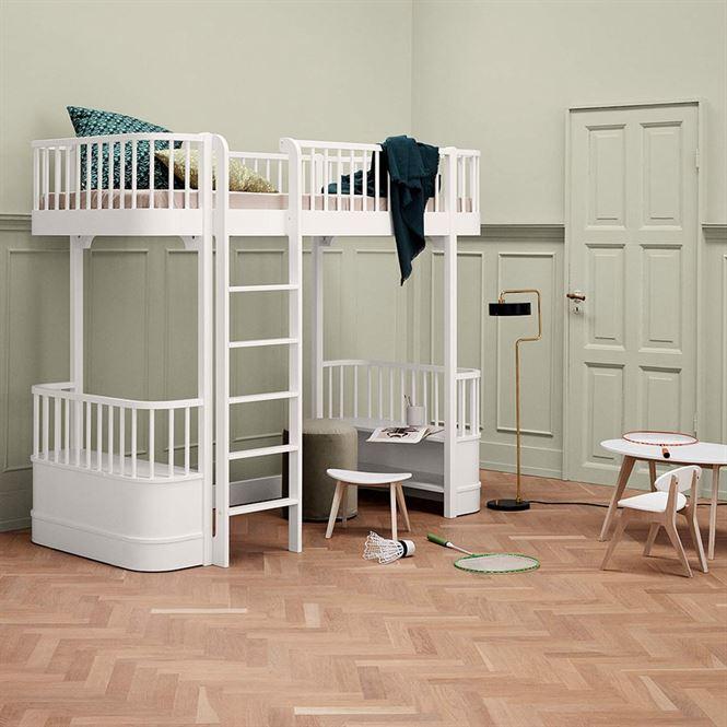Oliver Furniture Hochbett Wood Weiß Leiter vorne