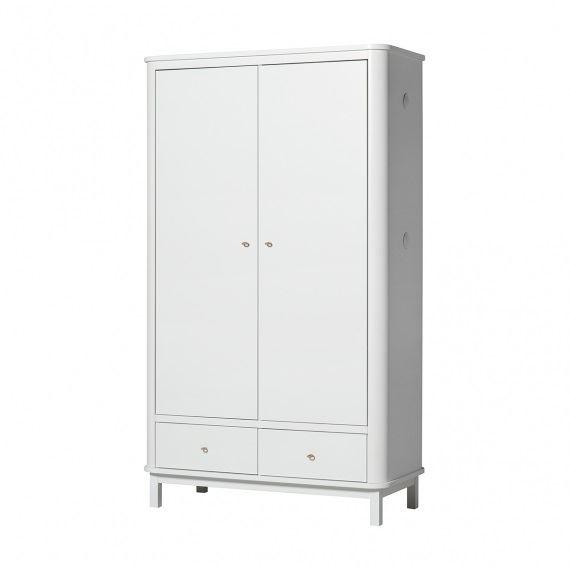 Oliver Furniture Schrank Wood Weiß 2 Türen