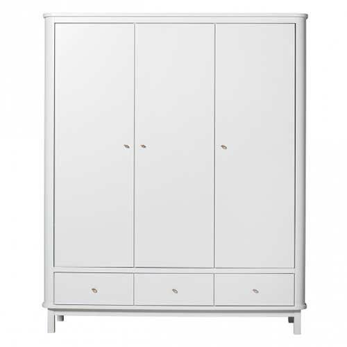 Oliver Furniture Schrank Wood Weiß 3 Türen