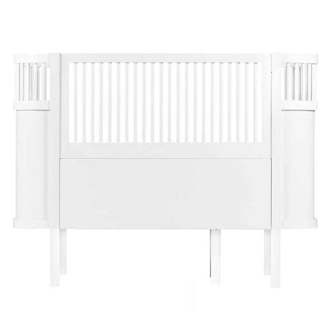 Sebra Baby- und Juniorbett umbaubar Weiß