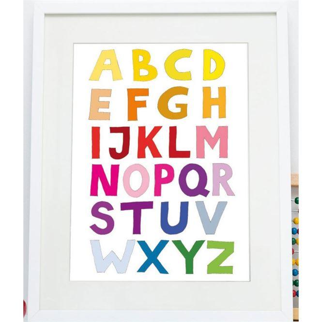 Tellkiddo ABC Poster Bunt