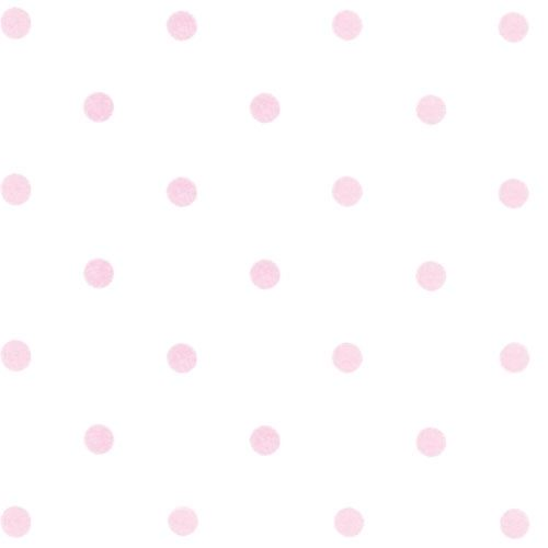 Tapete Rosa Wei? Gepunktet : Tapete Dots wei?-rosa von Annette Frank