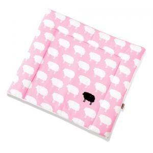 Wickelauflagenbezug  Happy Sheep rosa