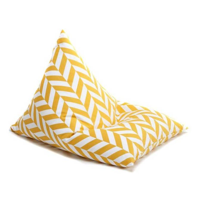 Wigiwama Sitzsack Triangle Herringbone Mustard