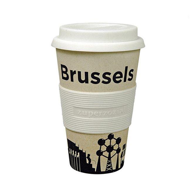 Zuperzozial Trinkbecher mit Deckel Brüssel