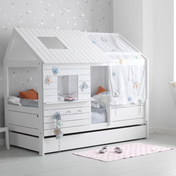 Kinderbett haus  LifeTime Bett Silversparkle niedrig