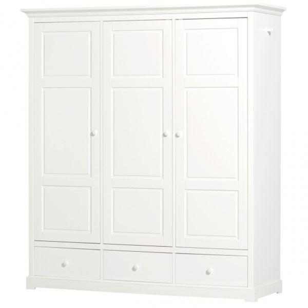 oliver furniture kinderkleiderschrank mit 3 t ren. Black Bedroom Furniture Sets. Home Design Ideas