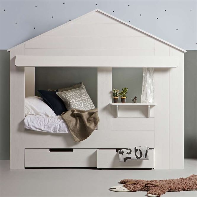 woood hausbett spielbett online im kinderzimmerhaus kaufen. Black Bedroom Furniture Sets. Home Design Ideas